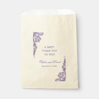 Modern Ultra Violet Lace THANK YOU Favour Bag