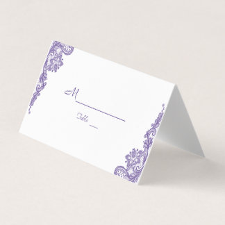 Modern Ultra Violet Lace Wedding Table Number Place Card