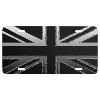 Modern Union Jack Flag License Plate