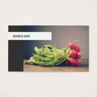 Modern Unique Vegetable Personal Chef Nutritionist Business Card