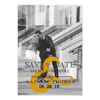 "Modern & Urban Minimalist | Save The Date Photo 5"" X 7"" Invitation Card"