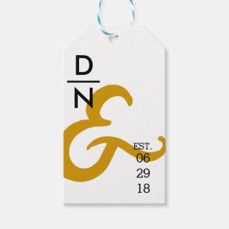Modern & Urban Minimalist | Yellow Ampersand Gift Tags