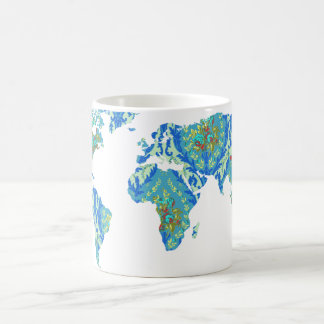 Modern Victorian World Map | World Traveler Mug