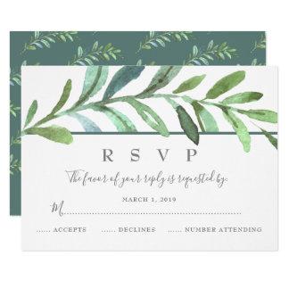 Modern Vines Botanical Wedding RSVP Card