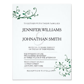 Modern Vines Wedding Invitations