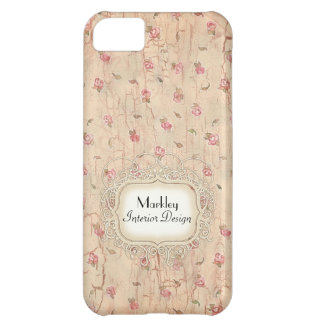 Modern Vintage Art Roses Tea Stained Aged Crackle iPhone 5C Covers