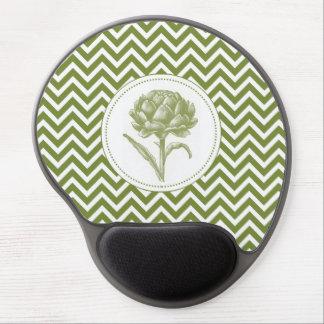 modern vintage artichoke gel mousepad