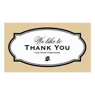 MODERN VINTAGE BEIGE | BUSINESS THANK YOU CARD PACK OF STANDARD BUSINESS CARDS