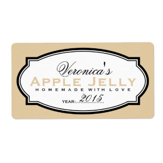 MODERN VINTAGE BEIGE | PERSONALIZED STICKER SHIPPING LABEL
