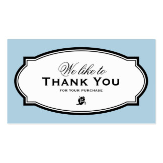MODERN VINTAGE BLUE | BUSINESS THANK YOU CARD PACK OF STANDARD BUSINESS CARDS