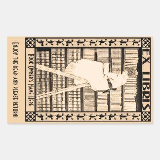 Modern Vintage Bookplate v1 Personalized Sticker