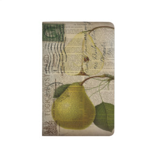 modern Vintage Botanical Print fruit pear Journal