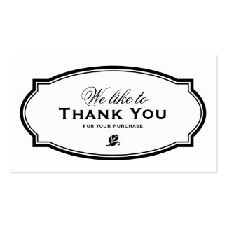 MODERN VINTAGE | BUSINESS THANK YOU CARD PACK OF STANDARD BUSINESS CARDS