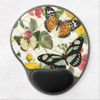 modern vintage butterfly garden gel mouse pad