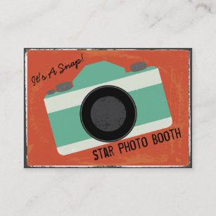Vintage camera business cards profile cards zazzle ca modern vintage camera photo booth photography business card reheart Choice Image