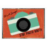 Modern Vintage Camera Photo Booth Photography Large Business Card