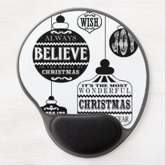 modern vintage Christmas ornaments Gel Mouse Mat