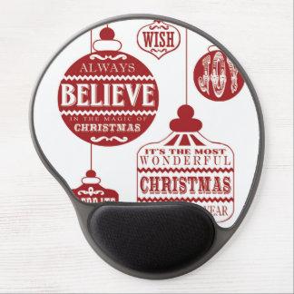 modern vintage Christmas ornaments Gel Mouse Pads