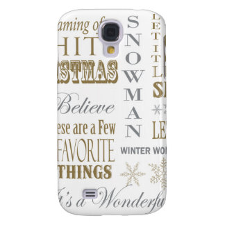 modern vintage christmas words galaxy s4 case