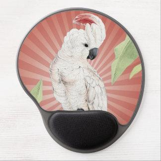 modern vintage cockatoo gel mouse pad