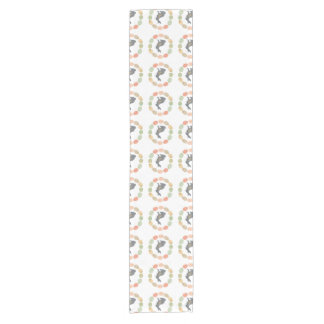 Modern vintage Easter bunny and eggs Short Table Runner