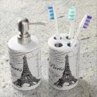 modern vintage Eiffel Tower Bathroom Set