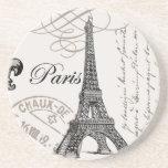 modern vintage Eiffel Tower Beverage Coaster