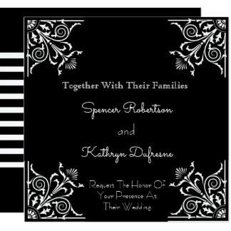 Modern & Vintage Elegance Wedding Invitation