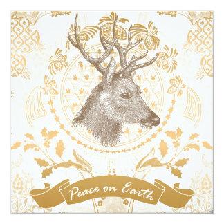 Modern Vintage Elegant Gold Christmas Card