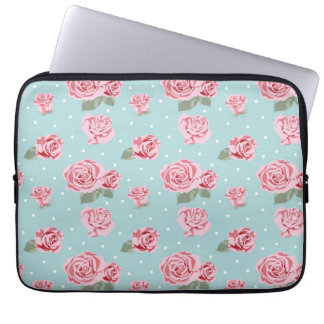 Modern Vintage Elegant Rose Laptop Sleeve