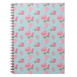 Modern Vintage Elegant Rose Notebook