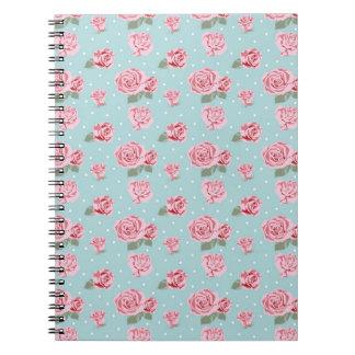 Modern Vintage Elegant Rose Notebooks