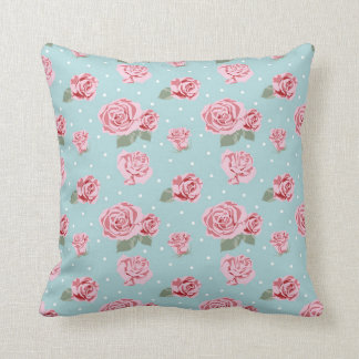 Modern Vintage Elegant Rose Throw Pillow