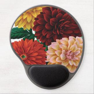 Modern vintage fall dahlias gel mouse pads