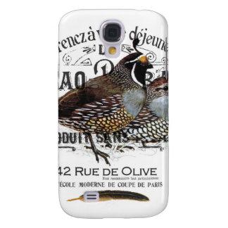 modern vintage fall quail galaxy s4 covers