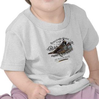 modern vintage fall quail t-shirt