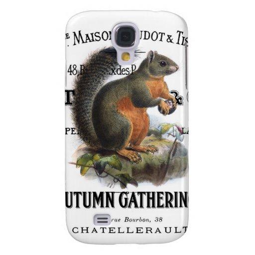modern vintage fall squirrel galaxy s4 case