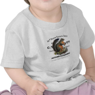 modern vintage fall squirrel t-shirt