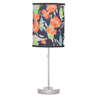 Modern vintage floral Coquelicot leaves pattern Table Lamps