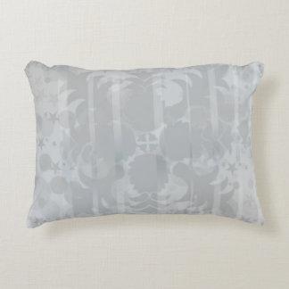 Modern Vintage Floral Silver Grey Pattern Decorative Pillow