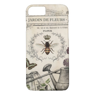 Modern Vintage French Bee garden iPhone 8/7 Case