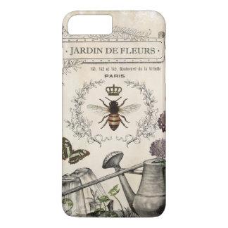 Modern Vintage French Bee garden iPhone 8 Plus/7 Plus Case