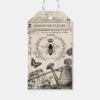 Modern Vintage French Bee garden Pack Of Gift Tags
