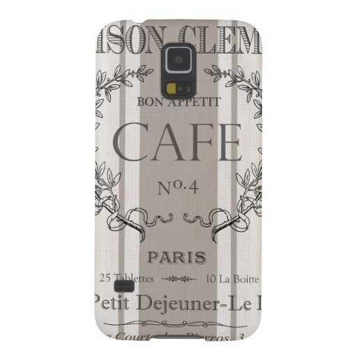 modern vintage french cafe galaxy s5 case
