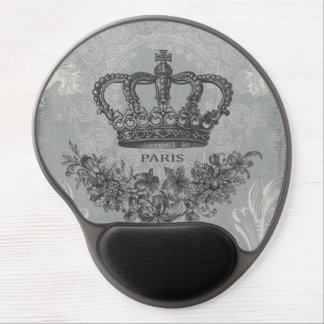 modern vintage french crown gel mouse mat
