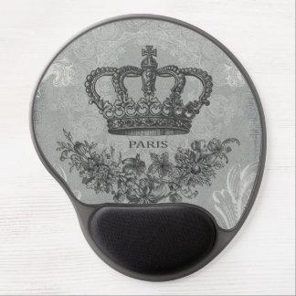 modern vintage french crown gel mouse mat