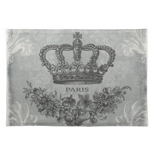 modern vintage french crown place mats