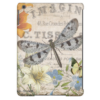 modern vintage french dragonfly cover for iPad air