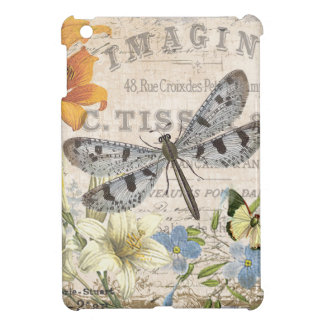 modern vintage french dragonfly iPad mini cover