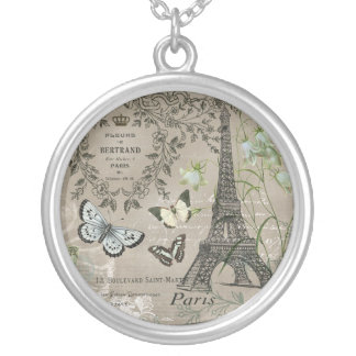 modern vintage french Eiffel Tower charm necklace